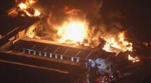 Incêndio de grandes proporções atinge fábrica de tintas em Betim