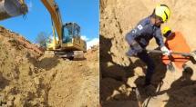 Bombeiros resgatam corpo de homem soterrado após deslizamento de terra em Betim